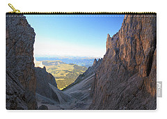 Carry-all Pouch featuring the photograph Dolomites At Morning by Antonio Scarpi