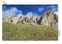 Carry-all Pouch featuring the photograph Dolomiti - Flowered Meadow  by Antonio Scarpi