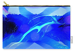 Dolphin Abstract - 1 Carry-all Pouch by Kae Cheatham