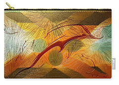 Dolphin Abstract - 2 Carry-all Pouch by Kae Cheatham