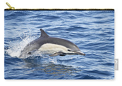 Dolphin At Play Carry-all Pouch