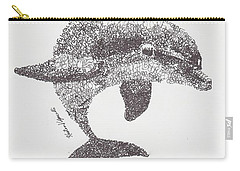 Dolphin Carry-all Pouch by Michael Volpicelli