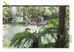 Carry-all Pouch featuring the photograph Dolphin Pond And Garden Green by Navin Joshi