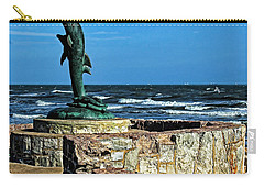 Dolphin Statue Carry-all Pouch by Judy Vincent