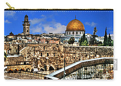 Carry-all Pouch featuring the photograph Dome Of The Rock by Doc Braham