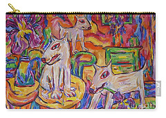 Carry-all Pouch featuring the painting Domesticated Wolves In Dutch Iris Room by Dianne  Connolly
