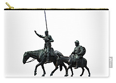 Carry-all Pouch featuring the photograph Don Quixote And Sancho Panza  by Fabrizio Troiani