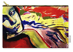 Carry-all Pouch featuring the painting Don T Look Back by Helena Wierzbicki
