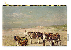 Donkeys On The Beach Carry-all Pouch