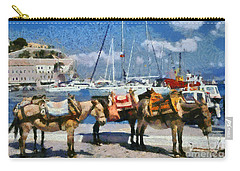 Donkeys Waiting For A Ride Carry-all Pouch
