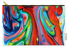 Carry-all Pouch featuring the painting Dont Worry  Be Happy by Joyce Dickens