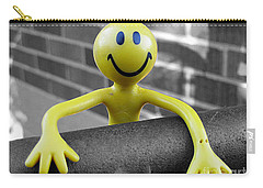 Carry-all Pouch featuring the photograph Don't Worry Be Happy by Nina Silver