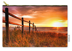 Door County Europe Bay Fence Sunrise Carry-all Pouch
