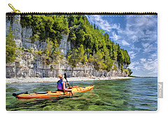 Door County Kayaking Around Rock Island State Park Carry-all Pouch