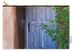 Carry-all Pouch featuring the photograph Doors Of Santa Fe by Roselynne Broussard