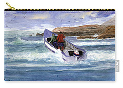 Dory Boat Heading To Sea Carry-all Pouch by Chriss Pagani