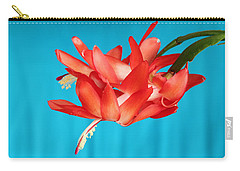 Double Bloom In Red Carry-all Pouch by E Faithe Lester