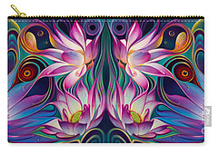 Double Floral Fantasy 2 Carry-all Pouch