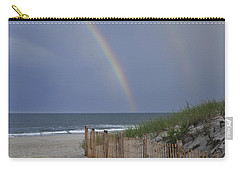 Double Rainbow Beach Seaside Park Nj Carry-all Pouch