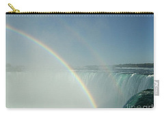 Carry-all Pouch featuring the photograph Double Rainbow by Brenda Brown