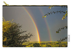 Double Rainbow Over County Clare Carry-all Pouch