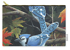 Carry-all Pouch featuring the painting Double Trouble by Mike Brown