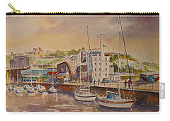 Carry-all Pouch featuring the painting Dover Marina In Uk by Beatrice Cloake