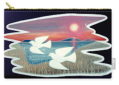 Carry-all Pouch featuring the painting Doves by Jason Girard