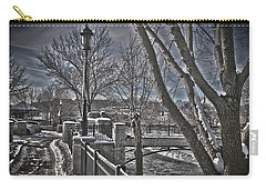 Carry-all Pouch featuring the photograph Down By The River by Deborah Klubertanz