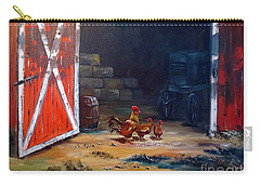 Carry-all Pouch featuring the painting Down On The Farm by Lee Piper