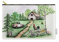 Down On The Farm Carry-all Pouch by Lena Auxier