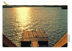 Down To The Fishing Dock - Lake Of The Ozarks Mo Carry-all Pouch by Debbie Portwood