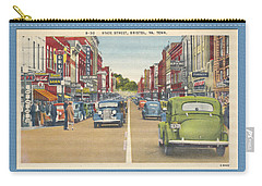 Downtown Bristol Va Tn 1930 - 40 Carry-all Pouch