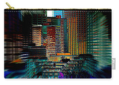 Carry-all Pouch featuring the digital art Downtown Chaos by Stuart Turnbull
