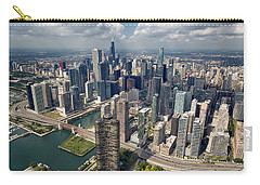 Downtown Chicago Aerial Carry-all Pouch by Adam Romanowicz