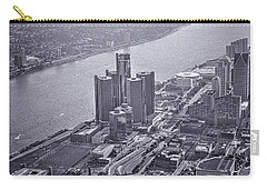 Downtown Detroit Carry-all Pouch by Nicholas  Grunas