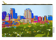 Downtown St. Louis From The Southwest Abstract Carry-all Pouch