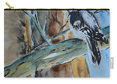 Carry-all Pouch featuring the painting Downy  by Beverley Harper Tinsley