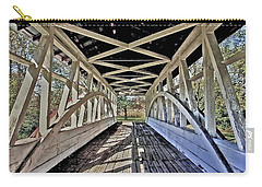 Carry-all Pouch featuring the photograph Dr. Knisely Covered Bridge by Suzanne Stout