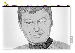 Carry-all Pouch featuring the drawing Dr. Leonard Mccoy by Thomas J Herring