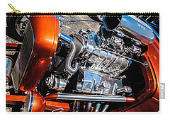 Carry-all Pouch featuring the photograph Drag Queen - Hot Rod Blown Chrome  by Steven Milner