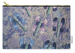 Carry-all Pouch featuring the painting Dragon Fly Blues by Megan Walsh