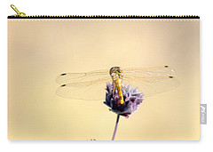 Carry-all Pouch featuring the photograph Dragonfly by AJ  Schibig
