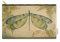 Dragonfly Among The Ferns-1 Carry-all Pouch by Jean Plout