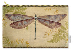 Dragonfly Among The Ferns-3 Carry-all Pouch by Jean Plout