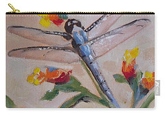 Dragonfly And Flower Carry-all Pouch