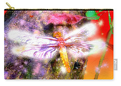 Carry-all Pouch featuring the digital art Dragonfly by Daniel Janda
