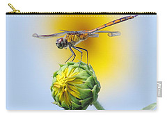 Dragonfly In Sunflowers Carry-all Pouch