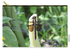 Carry-all Pouch featuring the photograph Dragonfly by Karen Silvestri