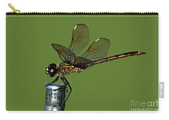 Carry-all Pouch featuring the photograph Dragonfly by Meg Rousher